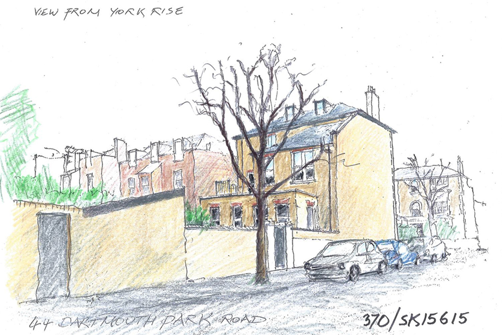 Dartmouth Park. Architect: Peter Stern - View from York Rise