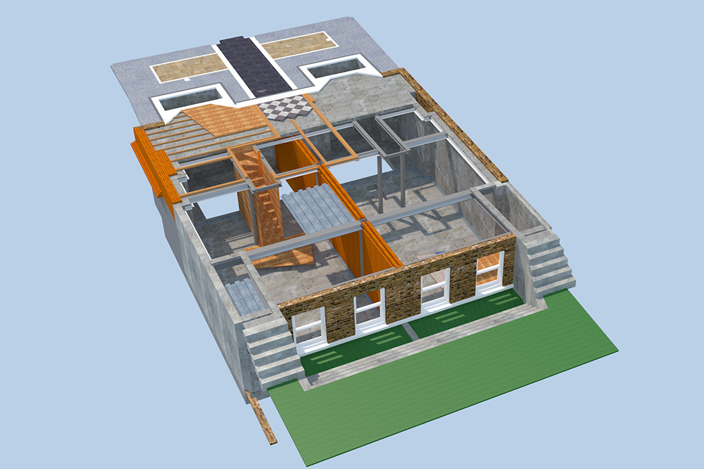 Dartmouth Park 3D Modelling. Architect: Peter Stern